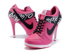 converse heels pink!!<3 ***ok first off they are Jordan sneakers not converse. Duh.
