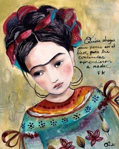 Frida inspired art print with quote by claudia tremblay on Etsy Diego Rivera, Claudia Tremblay, Kahlo Paintings, Frida And Diego, Frida Art, Poster Prints, Art Prints, Posters, Mystique