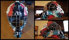 A hockey helmet design and wrap done by us. These can be a bit of a challenge in both design and installation but with the right tools and know-how the final outcome can be pretty cool. Hockey Helmet, Helmet Design, Automotive Design, Pretty Cool, Color Change, Spiderman, Wraps, Challenges, Colour