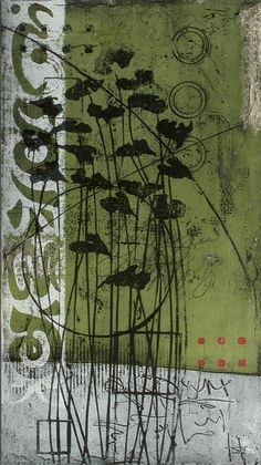 Anne Moore  Fugitive Mirage  block print