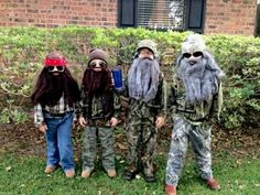 Duck Dynasty Halloween!  Complete with glass of iced tea!