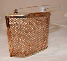 1950s handbags vintage | Majestic Vintage Hexagon Gold Netted Lucite Handbag - circa 1950s ...