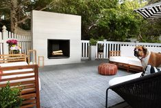 How to build an outdoor fireplace #backyardinspiration #outdoorfireplace #deckdesign