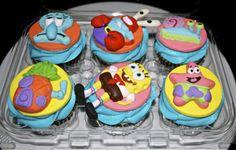 Sponge Bob cupcakes Sponge Bob Cupcakes, Spongebob Squarepants, 5th Birthday, Cake Ideas, Bakery, Deserts, Food, Bread Store, Desserts