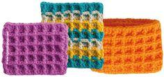 Punto waffle tejido a crochet (waffle crochet stitch).