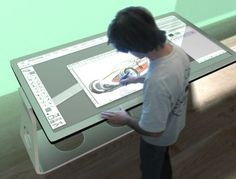 A touch screen computers - as shown in a table