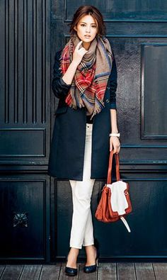 Cool office day look Cool office day look Japan Fashion, Work Fashion, Modest Fashion, Daily Fashion, Fashion Outfits, Womens Fashion, Fashion Trends, 1960s Fashion, Fall Outfits