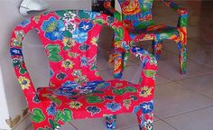 Outdoor Projects, Wingback Chair, Accent Chairs, Sunflowers, Craft Videos, Fabric Flip Flops, Decorated Chairs, Furniture Restoration, General Crafts