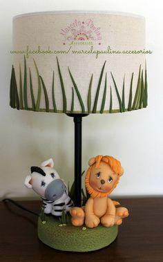 """Lampara inspirada en """"Animales de la Selva"""""""