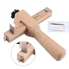 Quality Adjustable Leather Craft Cutter Strap Belt DIY Hand Cutting Tools Wooden Strip Cutter With 5 Sharp Blades New Arrival. It will be a great helper when you do leather craft DIY. Leather Diy Crafts, Leather Craft Tools, Diy And Crafts Sewing, Leather Carving, Leather Tooling, Wooden Hand, Wooden Diy, Leather Working Kit, Bois Diy