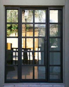 Eurofineline Steel Windows and Doors 6 Iron Front Door, Front Door Entrance, Iron Doors, Steel Windows, Steel Doors, Windows And Doors, Wood Exterior Door, Porche, Front Door Design