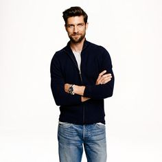 J.Crew - Cotton-cashmere zip sweater-jacket