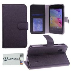 Wedding gift:Black Vegan Leather Folio Wallet Case & Stand for Google Nexus 4 (LG E960) + Identity Stronghold Secure RFID Blocking Credit & Payment Card Sleeve