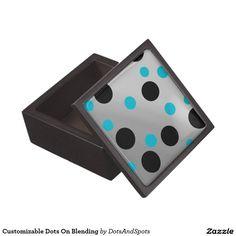 Customizable Dots On Blending Premium Trinket Boxes