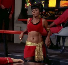"""Nichelle Nichols as Uhura in """"Mirror, Mirror"""", for me and other Colored folks, was the reason we watched Star Trek! It was a matter of race pride! Woods, Keeper of Stories Star Trek Crew, Star Trek Tv, Star Wars, Star Trek Original Series, Star Trek Series, Jeri Ryan, Science Fiction, Alien Nation, Sherlock"""