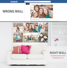 The average Facebook post lives 22 hours and 51 minutes.  Don't your photos deserve more than that?  Give your wall-worthy photos a wall worthy of your photos.  www.simplygalleries.com