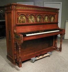 1877 Broadwood Custom Designed Cottage Upright Piano - Exceptional Custom Designed Broadwood Cottage Upright Piano, Cabinet Built & Designed By The Famous Gillow & Company