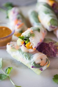 Fresh Spring Rolls recipe - Tastes Better From Scratch Gf Recipes, Healthy Recipes, Appetizer Recipes, Appetizers, Dinner Recipes, Homemade Peanut Sauce, Fresh Spring Rolls, Summer Rolls, Cooking Chinese Food