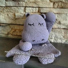 Hippo Lovey doll Ragdoll soft Baby and by PonchosandScarves