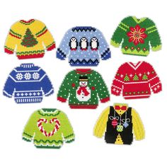 Herrschners® Ugly Sweaters Ornaments Plastic Canvas Kit