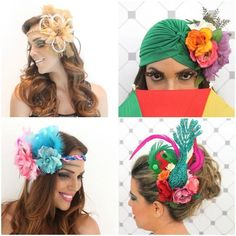 acessorios-para-carnaval Folklore, Havanna Nights Party, Little Girl Costumes, Carmen Miranda, Hair Decorations, Tropical Party, Hair Styles 2016, Hair Today, Make And Sell