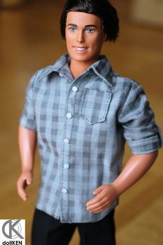Handmade Ken doll clothes - Casual Shirt (Short Sleeves) by dollKEN on Etsy