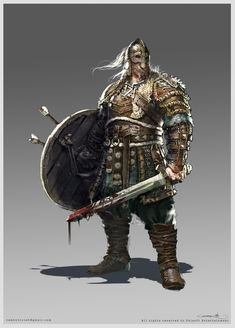 ArtStation - For Honor Viking Warlord, Remko Troost Viking Art, Viking Warrior, Vikings, Character Inspiration, Character Art, Character Design, Fantasy Armor, Medieval Fantasy, For Honor Viking