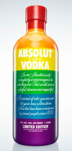 I'm in a rainbow mood today #Absolut rainbow #packaging PD