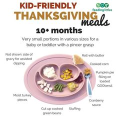 In need of some Thanksgiving inspo for your little one? @feedinglittles shares a variety of tips that are age-based 🦃 Would your tag a friend below that would find this helpful!   For more tips check out www.feedinglittles.com/blog
