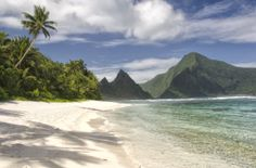 American Samoa: some of the purest Polynesia you'll find anywhere... an isolated South Pacific paradise that is a longer trek from the US mainland than Hawaii. - [Photo: Ofu Island, American Samoa, courtesy of American Samoa Visitors Bureau]