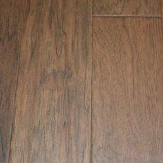 "Hickory Slow Molasses 3/8 x 5"" Hand Scraped Engineered Hardwood Flooring"