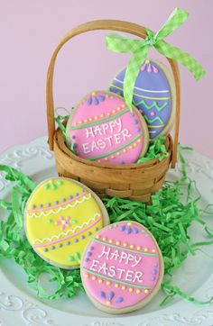 Cute and Easy Decorated Easter Cookies - by Glorious Treats