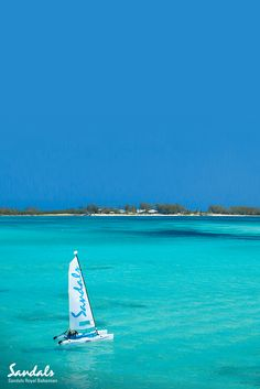 Sail the calmest seas in the Caribbean. At Sandals Royal Bahamian sailing is included. Royal Bahamian, Best All Inclusive Resorts, Adventure Travel, Adventure Awaits, Bahamas Vacation, Romantic Getaway, Nassau, Travel Couple, Dream Vacations