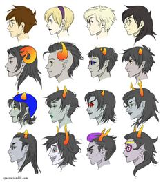 Finally a realistic set of profiles for the Homestuck people that doesn't exaggerate any specific feature (*coughnosescoughcough*)!