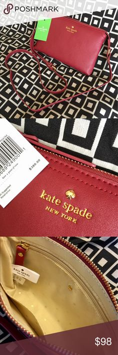 "💥✨KATE SPADE!!!✨💥 KATE SPADE!!!  BRAND NEW W/TAGS!!!  COLOR - AS SHOWN!!!  SIZE - 8.25"" L x 5.5"" H!!!  SOFT SUPPLE LEATHER!!!  GREAT GIFT IDEA!!!  CHECK MY LISTINGS FOR OTHER GREAT ITEMS!!!            Ignore: canvas purse purses handbags hand bag change bags handbag tote totes Kate spade new york clutch crosssbody cross body satchel kate spade Bags"