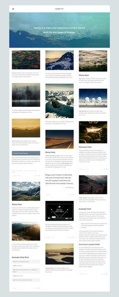 Vanity - Grid Blog Tumblr Theme. Live Preview & Download: http://themeforest.net/item/vanity-grid-tumblr-theme/8534582?ref=ksioks