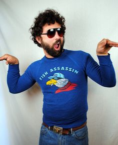 Vintage 1980s Fish Assassin Seagull RAD Sweatshirt by RogueRetro, $45.00