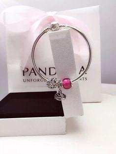 50% OFF!!! $119 Pandora Bangle Charm Bracelet Pink. Hot Sale!!! SKU: CB01862 - PANDORA Bracelet Ideas