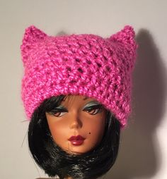 Pink hats for Barbie from my Etsy shop https://www.etsy.com/listing/497715800/pink-pussy-cat-hat-for-barbie-silkstone