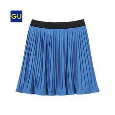 【GU】プリーツミニスカート BLUE
