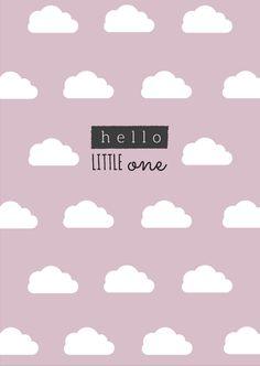 Postkarte Geburt - Hello little one
