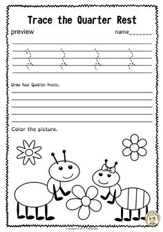 A set of 20 spring themed music worksheets is created to help your students learn to trace, copy, color and draw symbols, notes and rests commonly used in music. Practice in copying them onto their positions on the staff is provided in large size. Elementary Music Lessons, Music Lessons For Kids, Music Lesson Plans, Music For Kids, Elementary Schools, Learning Music Notes, Music Education, Health Education, Physical Education