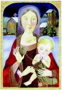 Knitting Madonna and Child by Anna Payne-Krzyzanowski