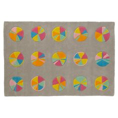 Colorful Pinwheel Rug | The Land of Nod