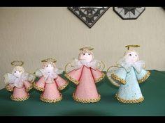 Como hacer angeles con capacillos para cupcakes, DIY decoración navideña - YouTube