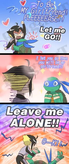 leave me alone by RingingT.deviantart.com on @deviantART (I love this ship as it is; an adorable one-sided crush XD)