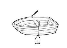 coloring page boat edit