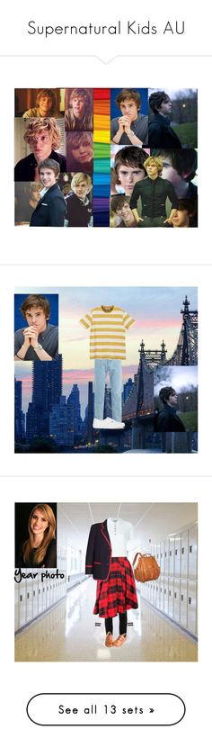 """""""Supernatural Kids AU"""" by georgiaearnest ❤ liked on Polyvore featuring art, Marcelo Burlon, American Eagle Outfitters and Converse"""