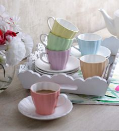 Buy Sanjeev Kapoor's Prima Cups & Saucers - Set of 6 Online: Shop from wide range of Bone China Cups & Saucers Online in India at best prices. Sanjeev Kapoor, Kitchenware, Tableware, China Cups And Saucers, Large Homes, Cup And Saucer Set, Diamond Shapes, Bone China, Flute