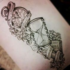 47 Tatuagens de Ampulheta ~ Mais Tattoo